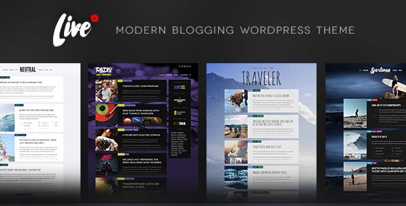 Live — Blog WordPress Theme