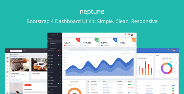Neptune – Dashboard UI Kit for Web Application Development
