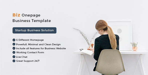 Biz Onepage Business HTML Template
