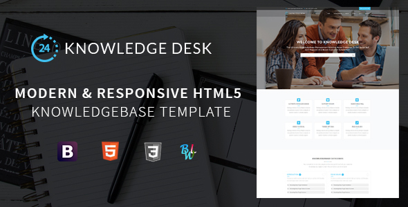 Knowledge Desk – Responsive Knowledgebase HTML5 Template