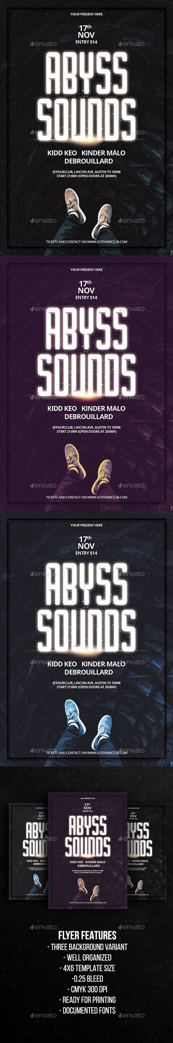 Abyss Sounds Party Flyer Template - Clubs & Parties Events