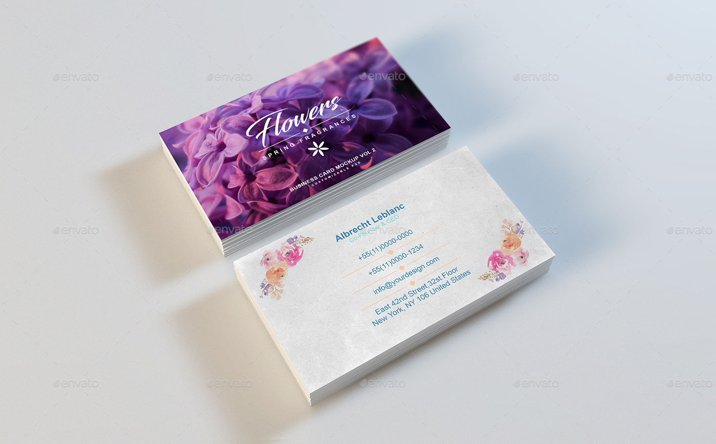 Business Card Mockup Vol 2 by HonnumGraphicArt | GraphicRiver