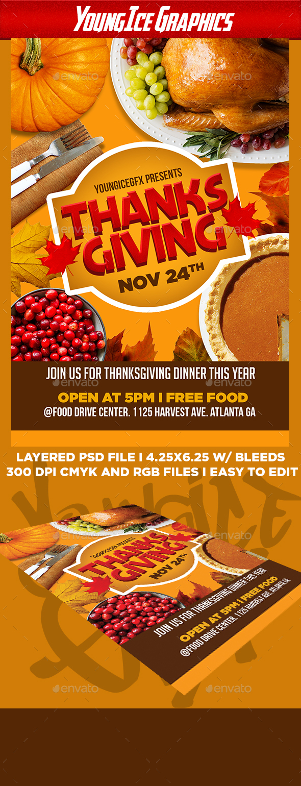 Thanksgiving Flyer Template V2 By Youngicegfx Graphicriver