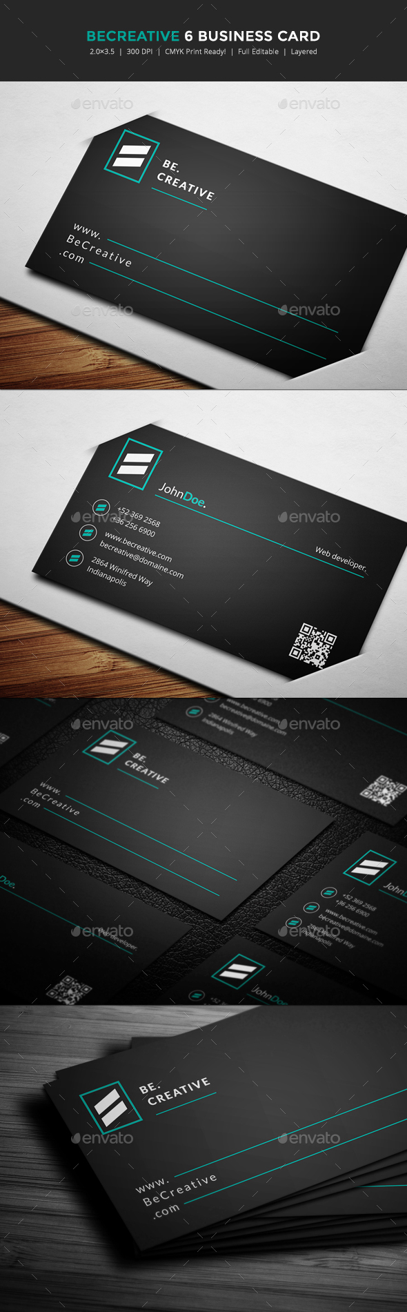 BeCreative 6 Business Card - Corporate Business Cards