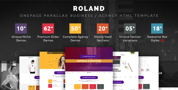 Roland – OnePage Parallax Business / Agency HTML Template