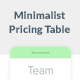 Minimalist Pricing Table - GraphicRiver Item for Sale