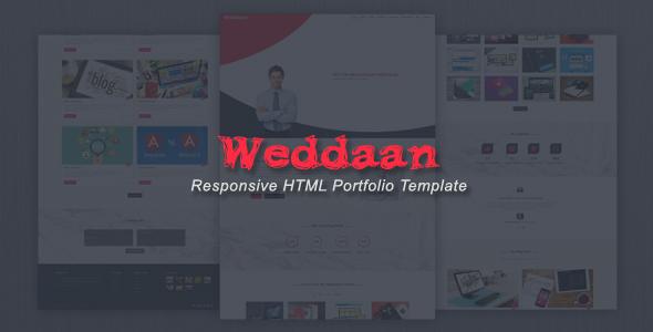 Weddaan – Responsive HTML Portfolio Template