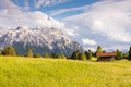 Alpine barn in the Karwendel Mountain range