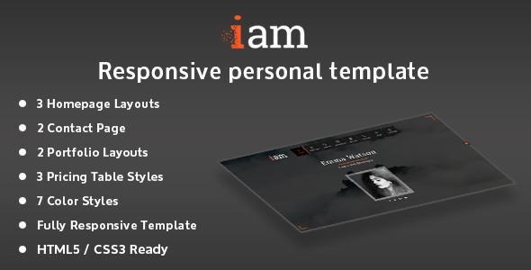 iam – Resume / Portfolio / Personal Responsive HTML Template