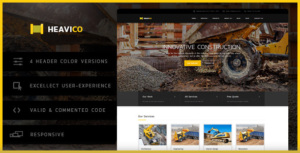 Heavico - Construction HTML Template - Business Corporate