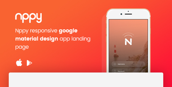 Nppy – Material Design App Landing Page