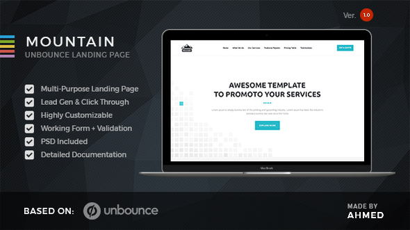 Mountain – Marketing Unbounce Template