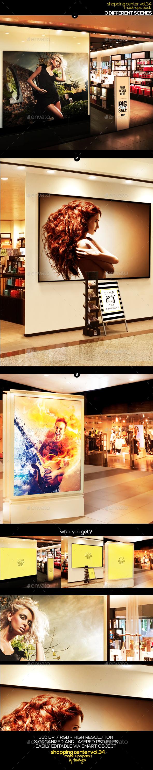 Shopping Center Vol.34 Mock Ups Pack - Signage Print