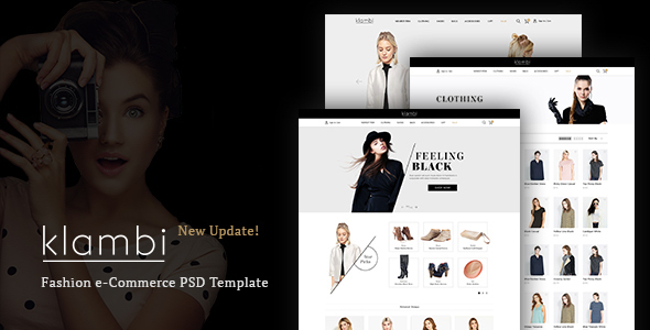 Klambi – E-Commerce Fashion HTML5 Template