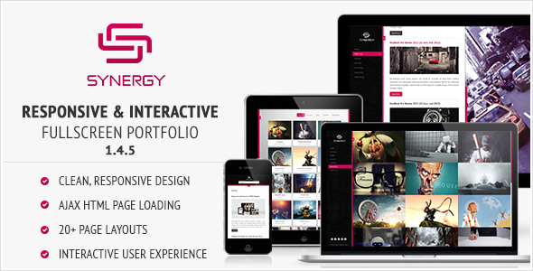 Synergy - Responsive & Interactive HTML Portfolio Screenshot