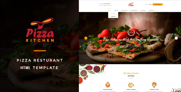 Pizza Kitchen - Pizza & Fast Food HTML Template