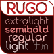RUGO font of 5 styles