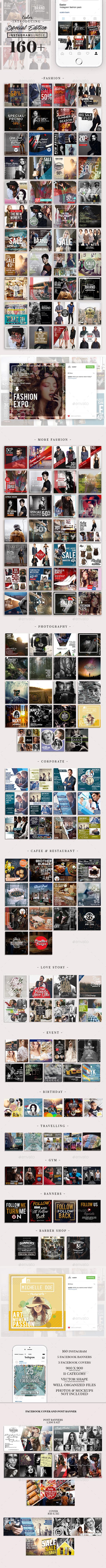Instagram Special Edition Bundle - Social Media Web Elements