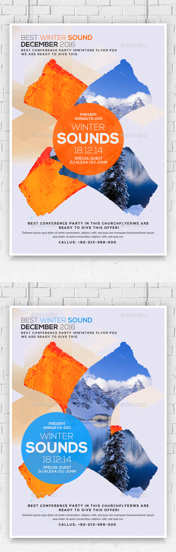 Minimal Winter Flyer Poster - Clubs & Parties Events