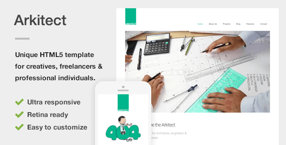 Arkitect – A Professional HTML5 Template for Architects and Engineers