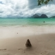 Landscape Of Las Cabanas Beach In El Nido. Palawan Island, Philippines - VideoHive Item for Sale