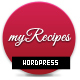 myRecipes - Recipes WordPress Theme