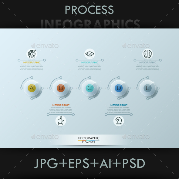 Modern Infographic Circles Timeline Template