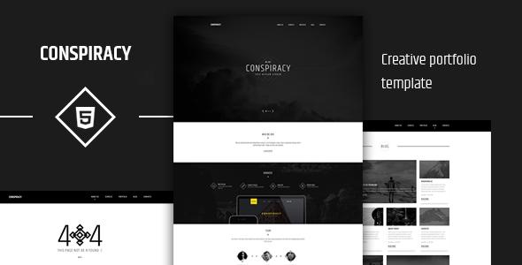 Conspiracy Creative HTML5 Portfolio Template