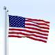 Animated US Flag - 3DOcean Item for Sale