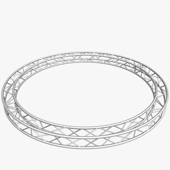 Circle Square Truss (400cm) - 3DOcean Item for Sale