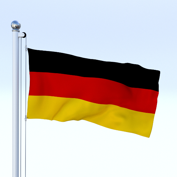 Animated German Flag - 3DOcean Item for Sale