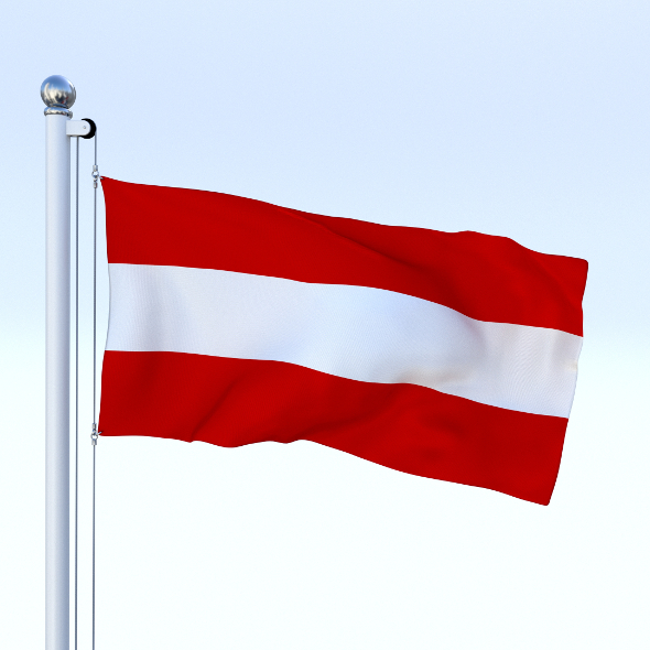 Animated Flag Austria - 3DOcean Item for Sale