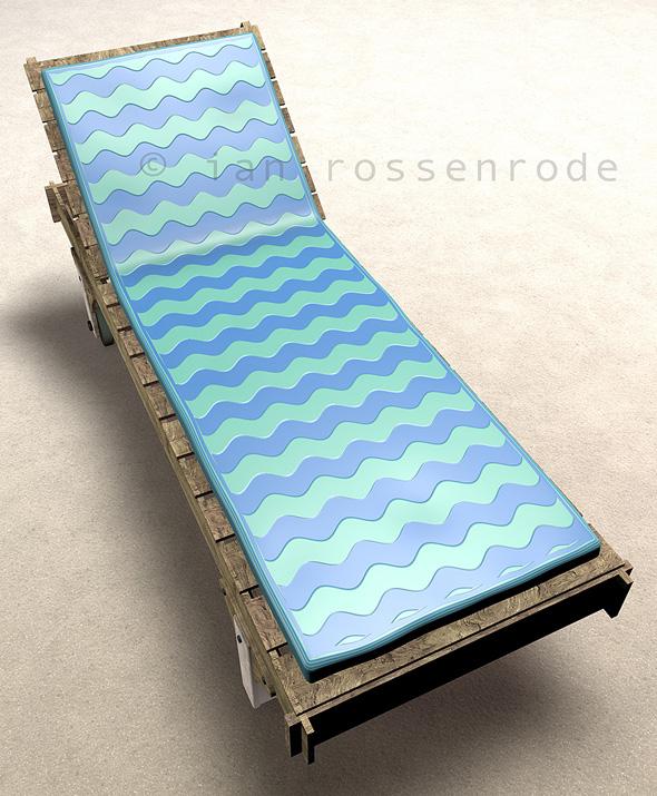 Rustic beach recliner - 3DOcean Item for Sale