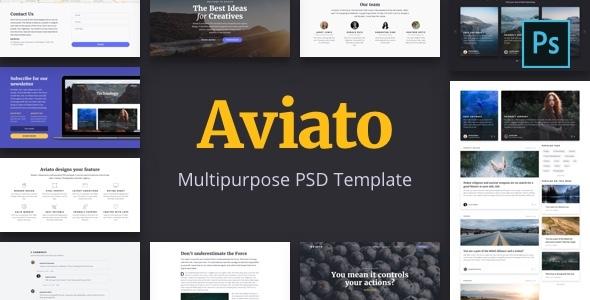 Aviato - Multipurpose PSD Template - Creative PSD Templates