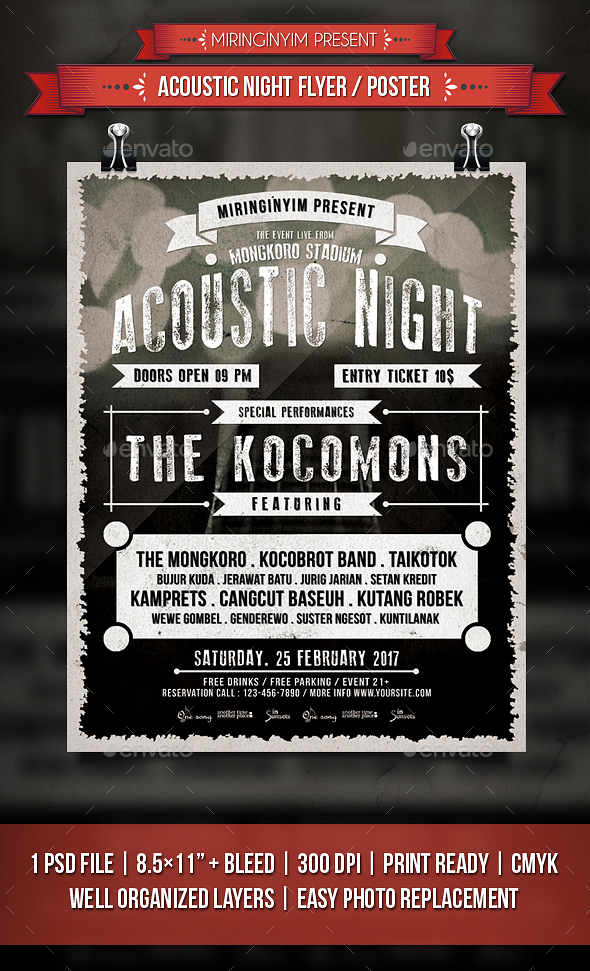 Acoustic Night Flyer / Poster - Events Flyers