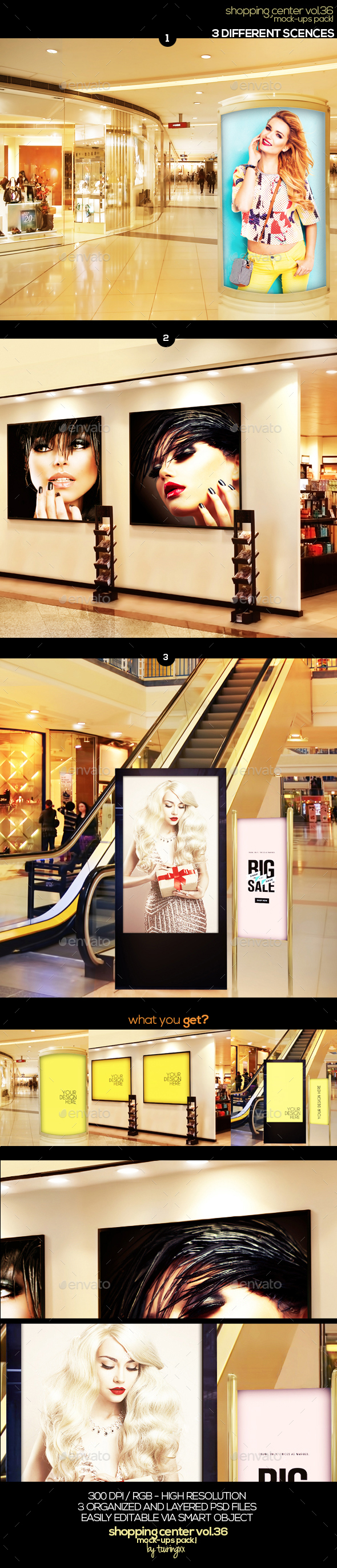 Shopping Center Vol.36 Mock Ups Pack - Signage Print