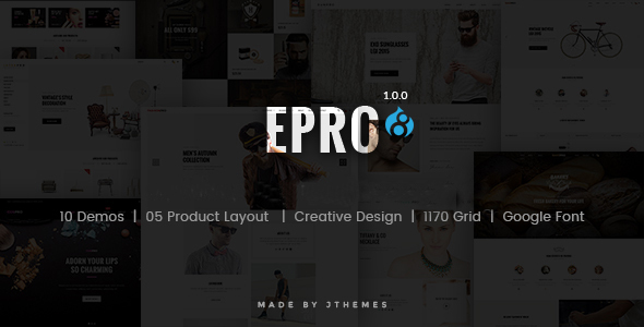ePro – Multipurpose Commerce Drupal 8 Theme