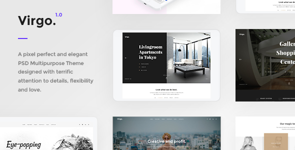 Virgo - PSD Multipurpose Template - PSD Templates