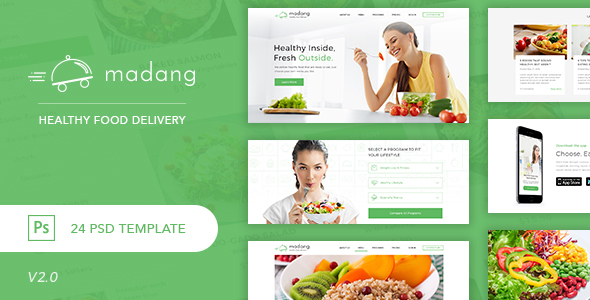 Madang – Healthy Food Delivery PSD Template