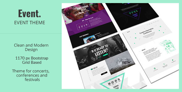 Event – Creative and Modern One Page HTML Template for Events