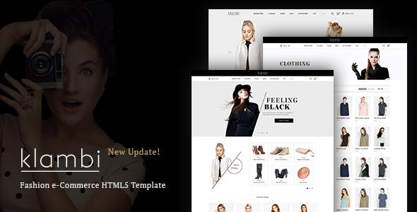 Klambi - E-Commerce Fashion HTML5 Template - Fashion Retail