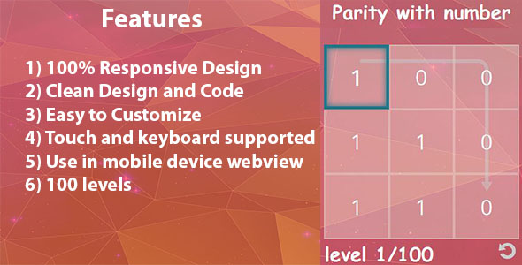 Parity with number HTML 5 game - CodeCanyon Item for Sale