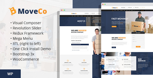 MoveCo - Logistics, Moving Company WordPress Theme