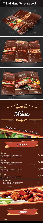 Trifold Menu Template Vol.8 - Food Menus Print Templates
