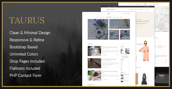 Taurus – Personal Blog HTML Template