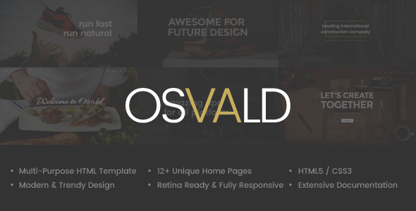 Osvald – HTML Responsive Multi-Purpose Template