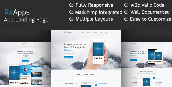RxApps – Responsive App Landing Page
