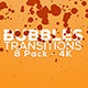Bubbles Transitions - 8 Pack - 4K - VideoHive Item for Sale