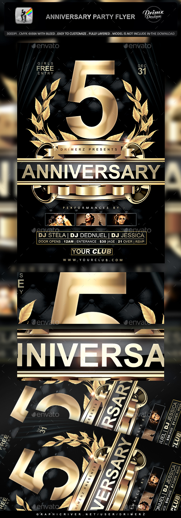Anniversary Party Flyer - Events Flyers
