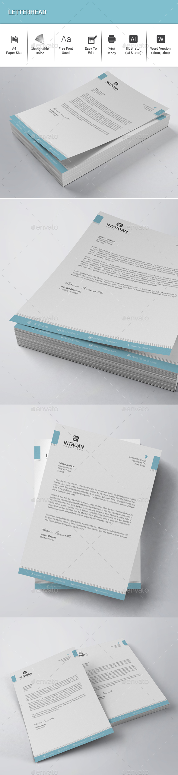 Letterhead - Stationery Print Templates